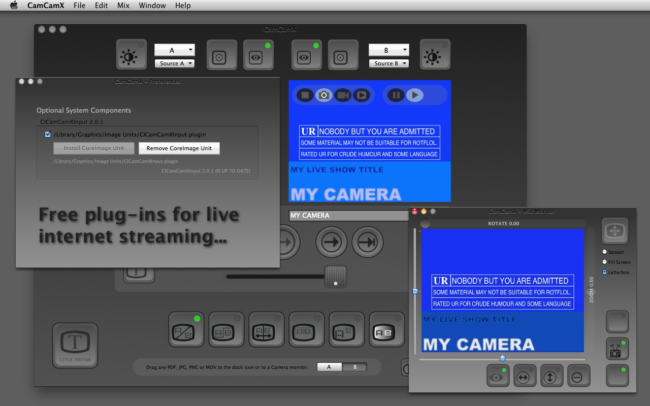 b-l-a-c-k-o-p™ - CamCamX | Video Mixer | VJ Software | Webcast