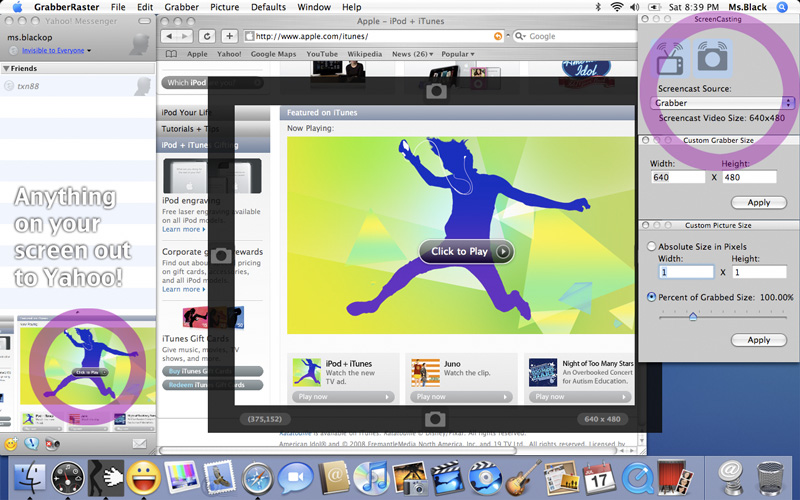 Screencast webcast Streaming Software Mac
